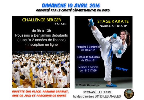 Challenge Berger & Stage - 10 avril 2016