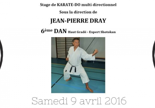 Stage Karate-Do J-P Dray - 9 avril 2016